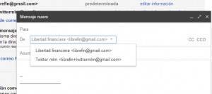 usar alias de gmail