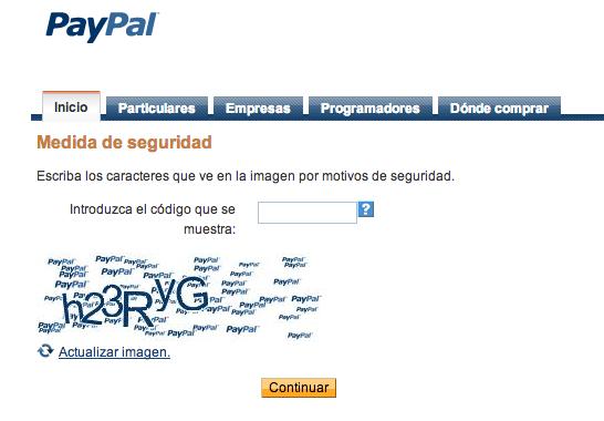 último paso para crear una cuenta en paypal