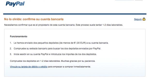 cómo validar cuenta de pay pal